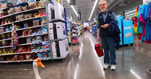 george angsa yang berbelanja di walmart
