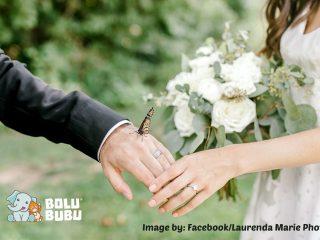 foto pernikahan bersama dengan kupu-kupu
